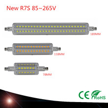LED Lamp 5W  78mm 10W 118mm  15W 189mm LED   R7S Light Perfect Replace Halogen Light Lampada white/ warm 360