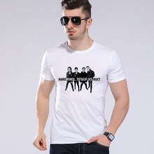 summer fashion men's t-shirt punk music metallica band member pictorial design t shirt heavy metal rock white classic teesL9-K48