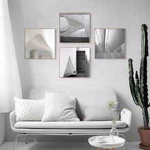 3D Creative Design Black And White Space Canvas Art Print Painting Poster Wall Picture For Living Room Home Decor(China)