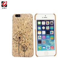 Luxury Laser Engrave Natural Cork Wood Case Cover Cell Phone Capa Blank Wooden Coque For iPhone 6 6S 6PLUS 6SPLUS 7 7PLUS Giraff(China)