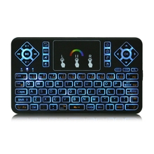 TZ Q9 Mini Keyboard 2.4GHz Wireless Keyboard RGB Backlit Touchpad for Android/Google Smart TV Air Mouse Mini Teclado VS I8