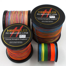 Multicolor 8 Strands 100M 300M 500M 1000M 1500M 2000M PE Braid Fishing Line Sea Saltwater Fishing Weave 100% SuperPower Hercules