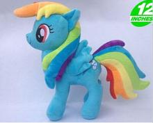 2016 Hot Sale Movies & TV 32cm Rainbow Dash plush horse toy  for birthday gift