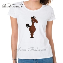 Babaseal Fashion Print All-match Women's Shirts Mermaid Plus Size Women's Tees Japanese Anime Tshirt Horse Summer Women's Tops(China)
