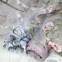 Wholesale 11 colour Chiffon organza fabric meter,textiles,Lace dress,,print satin fabric,floral fabric dress,Width140CM,B131