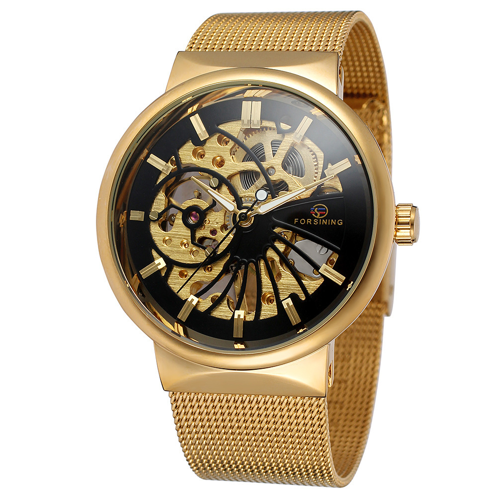 Mens Automatic Machanical Watches Steel Casual Wristwatches<br>