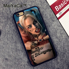 MaiYaCa Harley Quinn Suicide Squad Pattern Soft Rubber Phone Cases OEM For iPhone 6 6S Plus 7 7 Plus 5 5S 5C SE Cover Skin Shell(China)