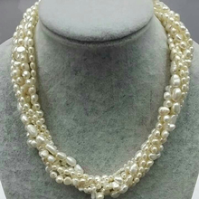 FREE SHIPPING TOP SELLING 100% chunky big white natural inregular fresh water pearl twist bridal necklace  PURE HANDWORKING MADE