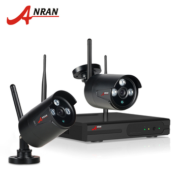 ANRAN And Play 4CH CCTV System Wireless NVR Kit P2P Cloud View 2pcs 720P HD Outdoor IR Home Security Surveillance WIFI IP Camera