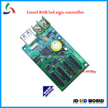 RGB tri-color lintel led screen display controller XY-UA card come with 4 groups HUB75