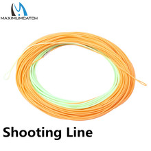 Maximumcatch ConnectCore Shooting line 100ft PaleGreen/Orange 20lb Floating Weight Forward Fly Fishing Line with 2 Welded Loops(China)