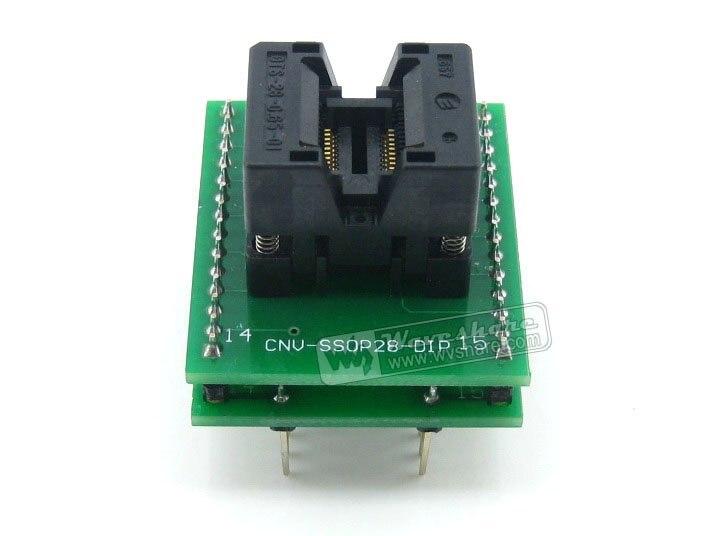 module Waveshare SSOP20 TO DIP20 (A) TSSOP20 Enplas IC Adapter Test &amp; Burn-in Socket for SSOP20 Package 0.65mm Pitch<br>