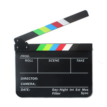 Lightupfoto Classical Director Video Scene Clapperboard TV Movie Clapper Board TV Film Movie Slate Colorful PAV1CBE(China)