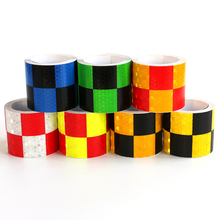 5cm Chessboard Lattice Reflective Tape Sticker Car Styling Automobile Vehicle Truck Motorcycle Warning Mark Strip Adhesive Decal(China)