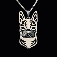 Hot Sale Boho Chic Hollow Boston Terrier Necklace Cute Animal Statement Necklace for Women Pet Lover's Gift Idea