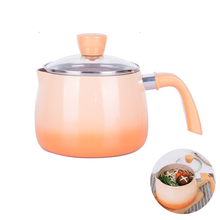 New Cute Soup Pan Small Milk Pot Non-stick Soup Pot Noodle Pan Baby Food Supplement Pot Kitchen Cooking Induction Gas Universal(China)