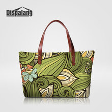 Dispalang Large Capacity Women's Handbags For Traveling 3D Printing Abstract Flower Lady Stylish Wedding Totes Female Sac A Main(China)