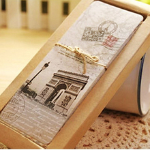 30 pcs/lot Vintage European Scenes Paper Book Marks Retro France Paris Eiffel Tower Bookmark Set