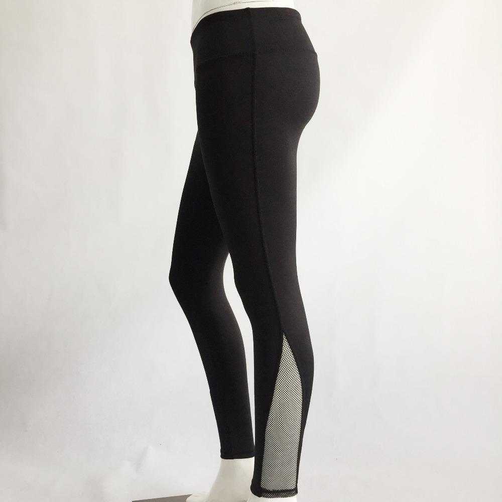 New Women Push-up Sporting Leggings Black Fashion Net Hollow Elastic Skinny Fitness Leggings Sporting Clothing For Women 7