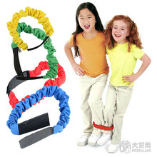 4PCS/BAG Cloth Running Competition Rope Toys For Children Kindergarten Sensory Integration Therapy Three-legged Race Toy Sports(China)