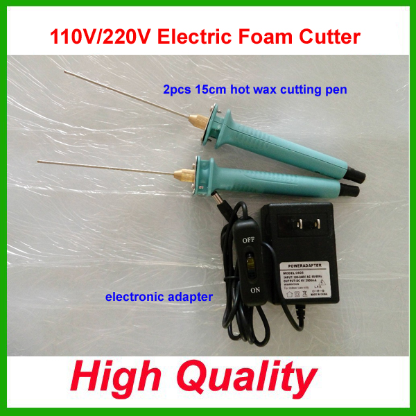 Hot Knife Styrofoam Cutter 2Pcs 15CM Pen CUTS FOAM KT Board WAX Cutting Machine Electronic Voltage Transformer Adaptor Eu Plug<br>