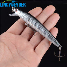 New 1pcs Hard Plastic Minnow Lure 3D Eyes Crankbait Wobbler Artificial Bait 10CM/8.5G Fishing Tackle