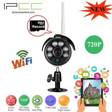 IPCC  Built in 8G TF card 720P/960P  wireless ip camera with mini sd card outdoor Waterproof ip66 night vision wifi ip camera