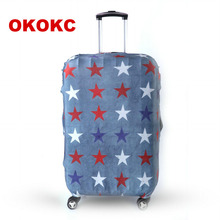 OKOKC Travel Luggage Suitcase Protective Cover for Trunk Case Apply to 19''-32'' Suitcase Cover Thick Elastic Perfectly(China)