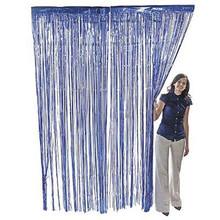 3 ft. x 8 ft Metallic Blue Foil Fringe Curtain Shimmer Curtain Birthday Decor New Christmas New Year Decorations