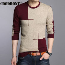 COODRONY 2017 Winter New Arrivals Thick Warm Sweaters O-Neck Wool Sweater Men Brand-Clothing Knitted Cashmere Pullover Men 66203(China)