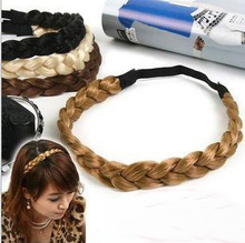 (1.2cm width)12pcs/lot medium size hot braided plaited hairband,lady's Knitting Braid Headband/Hair Accessories