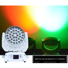 UK Warehouse (Pack of 2) Rasha Stage Light-36*18W 6in1 RGBAW UV ZOOM LED Moving Head Wash Light With DMX Tax Free to EU Country
