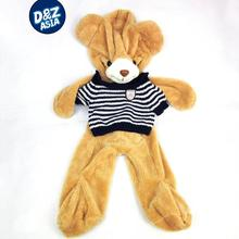 Plush toy bear striped sweater bearskin shell coat plush teddy bear manufacturers factory selling empty semi-finished products(China)