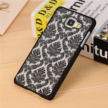 Vintage Damask Flower Pattern PC Case Cover for Samsung Galaxy A3 A5 A7 2016 J5 J7 Grand Prime G530 S3/S4/S5/S6/S6 Edge/S7 Edge