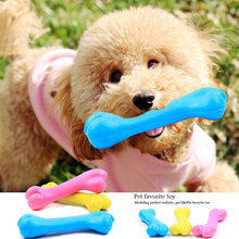 Rubber Resistant To Bite Bone Dog Puppy TPR Pet Toys Teddy Puppy Dogs Toy No Poison Play Chew Training Teeth Cleaning Dog Toy(China)