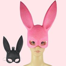 1Pcs Masquerade Rabbit Mask Sexy Bondage Bunny Long Ears Carnival Halloween Costume Party Gift 2