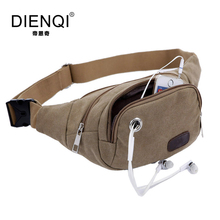 DIENQI Famous Brand Dual Use Canvas Waist Bags Men Travel Multifunctional Ourdoor Belt Bags Fanny Bags Vintage Waist Bags