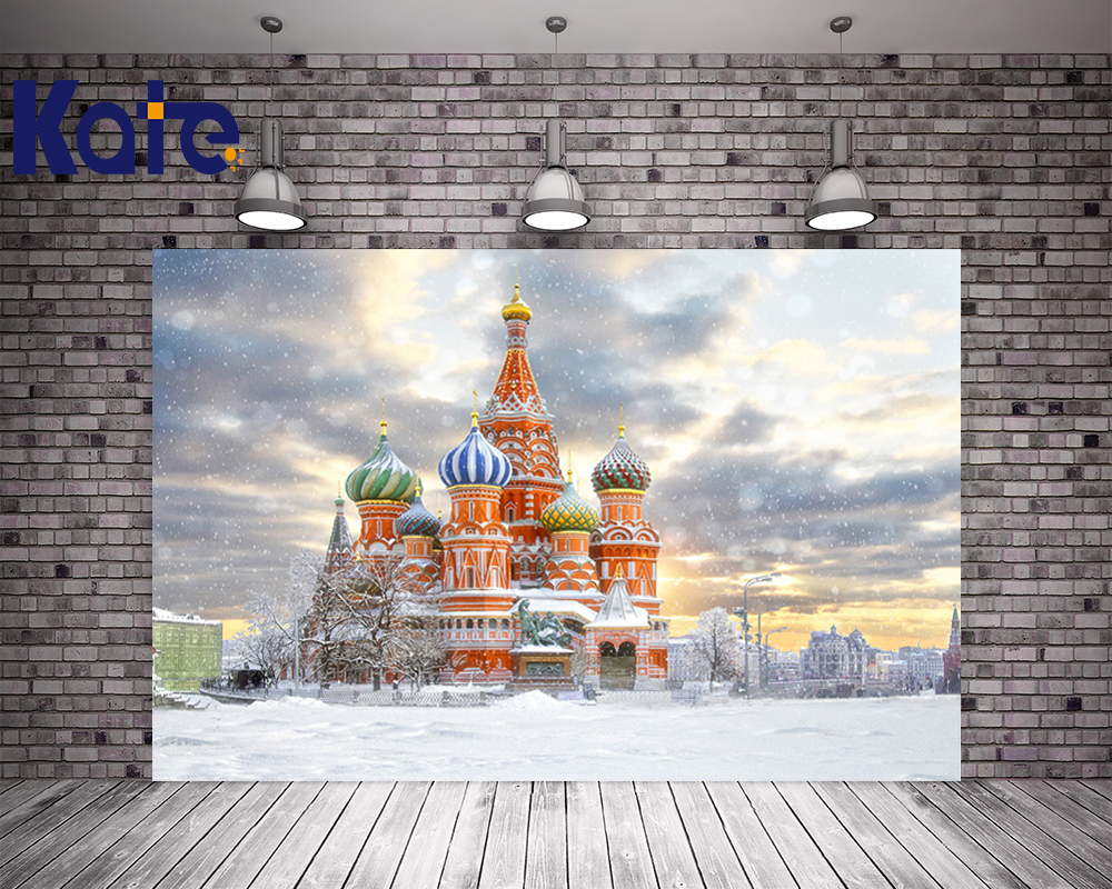 Kate 200X300CM Church Photography Background Winter Backdrops  Snow Sky Wedding Photography Backdrops Seamless Background<br>