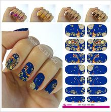 2017 New Arrival Manicure New Fashion Water Transfer Foil Nail Stickers All Kinds Of Art Design Patterns Decorative Decal V615