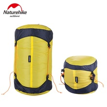 Brand Outdoor Camping Pack Compression Stuff Sack Bag 20D Nylon Silicone Waterproof Storage Carry Bag For Sleeping Bag