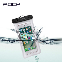 Air Bag Waterproof Case for iPhone/Samsung/Xiaomi/Huawei/Meizu, ROCK Premium Universal Waterproof Bag Case under 6 inch Phones(China)