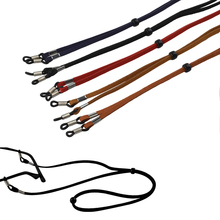 Retail Width 4mm Suede adjustable Eyeglasses cord Sunglasses Glasses chain holder 5colors for option Freeshipping(China)