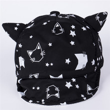 Children Newborn Baseball Cap Baby Girls Boys Spring Autumn Winter Hats Infant baby Cute Cat Ears Baby Kids Cotton Caps 1pc