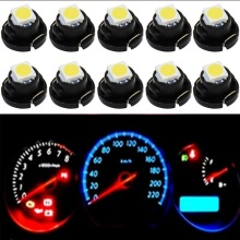 10pcs T4.2 T4 5050 SMD LED Neo Wedge Dashboard Instrument Cluster Light Car Panel Gauge Speedo Dash Bulb blue red green yellow