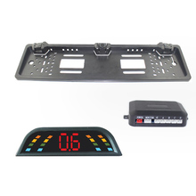 EU European Car License Plate Camera Rear View Camera Plate Frame Parking Camera Two Reversing Radar Parking Sensors