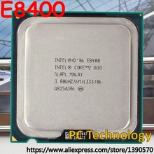 Original Intel Core 2 Duo E8400 Processor (3.0Ghz/ 6M /1333) Socket775 CPU Free shipping ship out within 1 day(China)