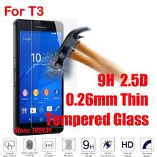 Anti-Scratch Explosion Proof Best 9H Hardness 2.5D 0.26mm Phone Cell Mobile Glass Screen Protector For Sony Xperia T3