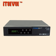 [iTEEVEE] Freesat V7 Combo ATSC Satellite Receiver USB Wifi DVB S2+ATSC Combo Receiver PowerVu Biss Key Cccam 1080p HD Set Top(China)