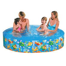 183*38cm Free inflatable round pool No air pump pool baby hard rubber plastic pool children bath free inflatable swimming pool(China)