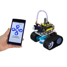 Keyestudio DIY Mini Tank Smart Robot  car kit for arduino Robot starter + manual+PDF+ Installation Video+Demo Video+5 Projects